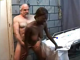 Old Perverted Grandpa Fucks a big Black haired Teen horny euro Girl