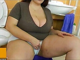 BBW fat mature each other with young man