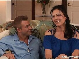 Brunette MILF Wild Swinger Sex