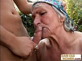 Ugly Hairy Granny Fucks