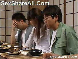 Asakawa Rei Jerks Off Her Dates Under The Dinner Table