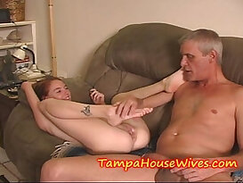 Teen step DAUGHTER gets fucked and CREAMED by a OLD DADDY