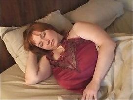 A Redhead Milf love with big mamba black Huge Boobs