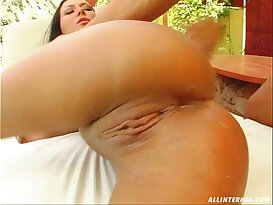 All Internal Valentina goes anal and gets her pussy filled up with a load of cum