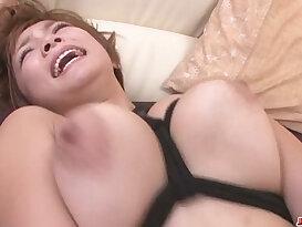 Busty blonde MILF Meguru Kosaka Gets her Shaved Pussy Creampied