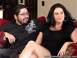 Cuckold whores out his horny MILF wife