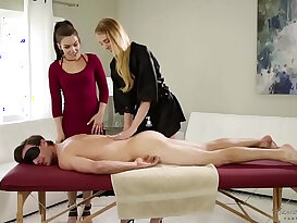 Im not a whore, Im a masseuse! Kimber Woods, Chloe Scott and Lucas Frost