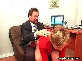 Boss nails horny secretary in office