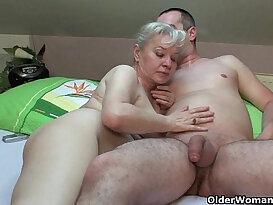 Grandma in heat needs to get off