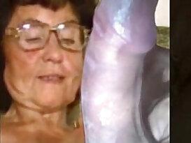 Delicious granny from xxxvideo.best masturbating