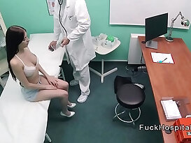 Big cock doctor recording sex with horny doctor and patient