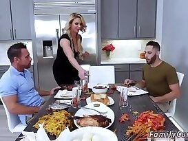 Family strokes game night full scene and friends daughter foot job