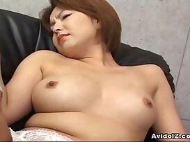 Japanese gets her haiy pussy licked and fingered Uncensored