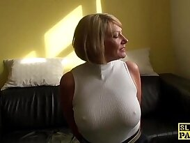 Mature brit paddled and fucked