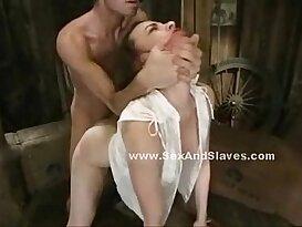 Babe in violent deepthroat sex video