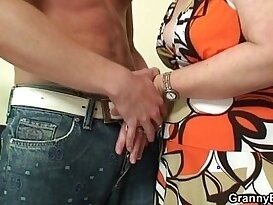 Lonely granny fingered and fucked in various poses