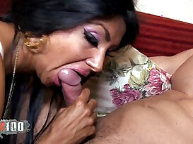Very Hairy Slut double penetration in threesome with spanish guys