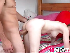 18 years old Lara Brookes gets her sweet pussy pounded