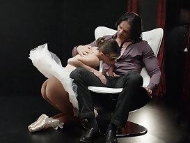 Ballerina riding a big fat cock