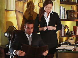 A chance to bed his horny secretary